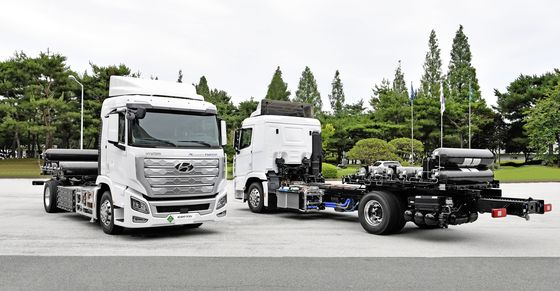 현대차의 엑시언트 수소전기트럭. 사진 현대자동차