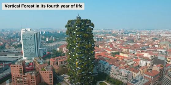 이탈리아 밀라노에 있는 '수직의 숲' 2018년의 모습. [유튜브]