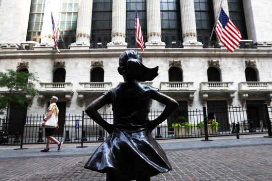 뉴욕증권거래소(NYSE) 앞. AFP=연합뉴스