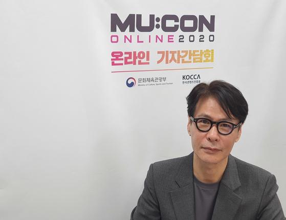 16일 뮤콘 온라인 기자간담회에 참석한 윤상 예술감독. [사진 한국콘텐츠진흥원]