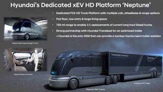 현대차 수소트럭 전용 플랫폼 넵튠