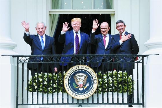 [사진] 이스라엘·UAE·바레인 '아브라함 협정'