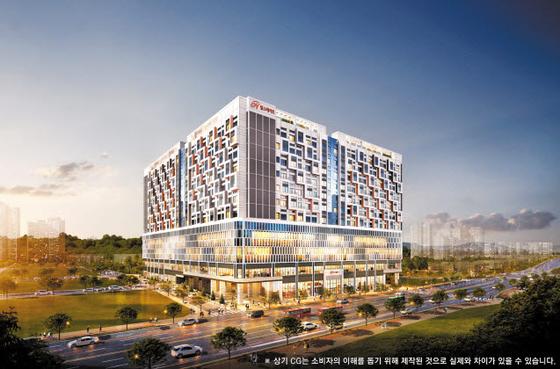 2020년 아파트 브랜드 평판 1위의 명성에 걸맞은 특화설계가 적용된 힐스테이트 지금 디포레 투시도.