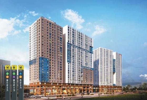서울 주요 업무지구에서 소형 주택이 최고가를 경신 중인 가운데 현대엔지니어링이 종로CBD에서 공급 중인 소형 주택 '힐스테이트 세운 센트럴' 조감도.