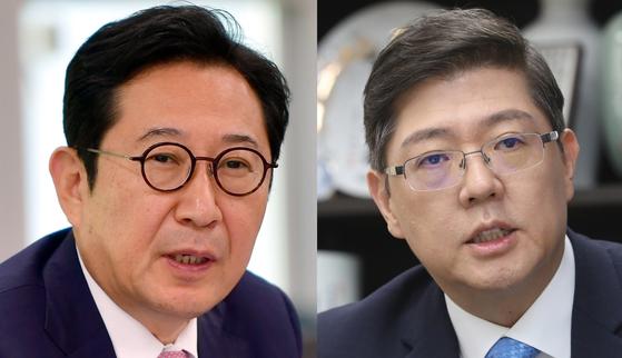 더불어민주당 김한정(왼쪽)·김홍걸 의원. [뉴시스]