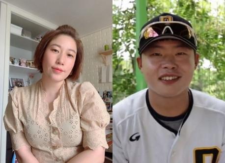 [사진 김영희 인스타그램, 한화이글스 네이버TV 영상 캡처]