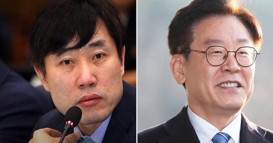 하태경 국민의힘 의원(왼쪽)과 이재명 경기지사. [중앙포토]