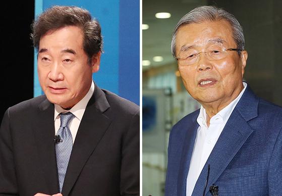이낙연(左), 김종인(右)
