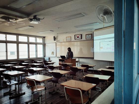 지난 4월9일 온라인 개학을 한 서울의 한 고등학교에서 원격 수업이 진행되고 있다. 남궁민 기자
