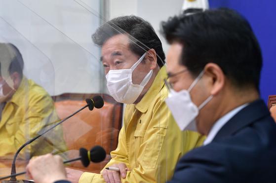 이낙연 더불어민주당 대표가 22일 오전 서울 여의도 국회에서 김창룡 경찰청장과 만났다. 이날 행사는 '경찰청장 내방'으로 공지가 되었지만, 내용은 사실상 개천절 집회에 대한 당정 합동회의에 가까웠다. [뉴스1]