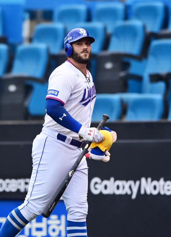 23일 창원 NC전에서 시즌 5호 홈런을 터트린 다니엘 팔카. 삼성 제공