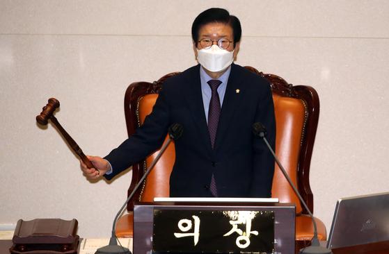 24일 국회 본회의에서 임차인의 임대료 인하 청구권을 명시한 상가건물 임대차 보호법이 통과됐다. [연합뉴스]