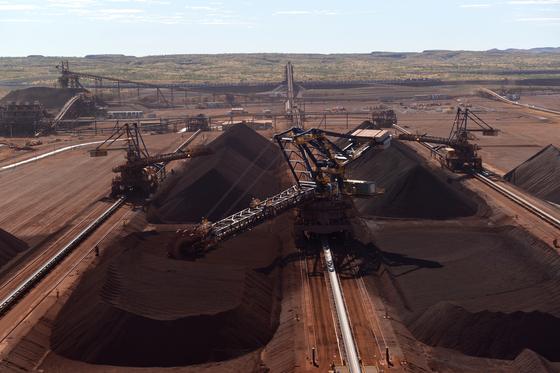 포스코가 투자한 호주 철광석 광산 '로이힐' 야드, 사진 포스코