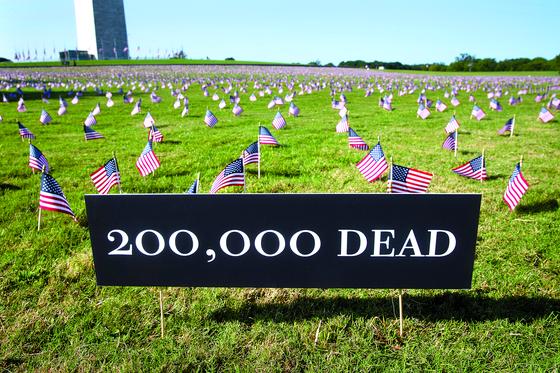 [사진] 미국 코로나 사망 20만 돌파