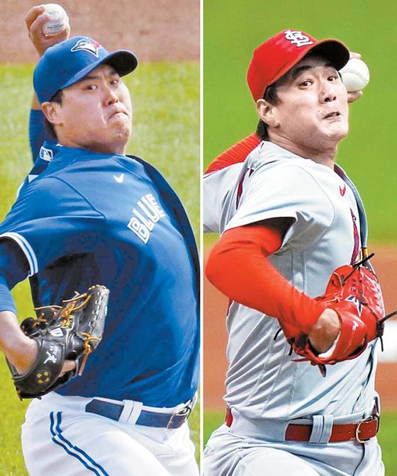 류현진(左), 김광현(右)