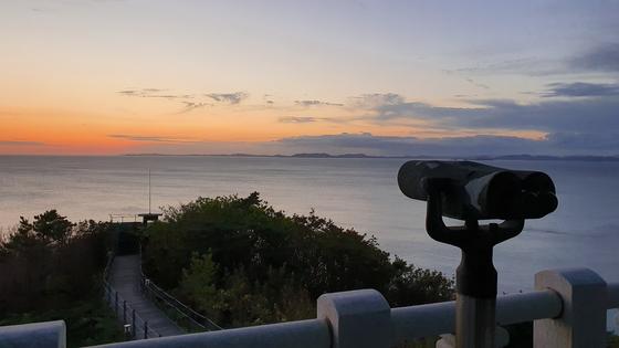 사건이 벌어진 서해 연평도에서 바라본 등산곶. 편광현 기자