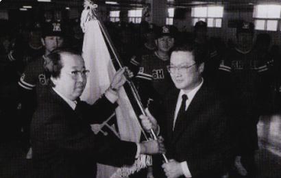 타이거즈는 82년 1월 30일 박건배 구단주를 비롯, 김동엽 감독과 코치진 및 14명의 선수로 창단식을 가졌다. KIA 제공