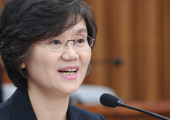 2018년 7월 인사청문회 당시 노정희 대법관의 모습, [뉴스1]