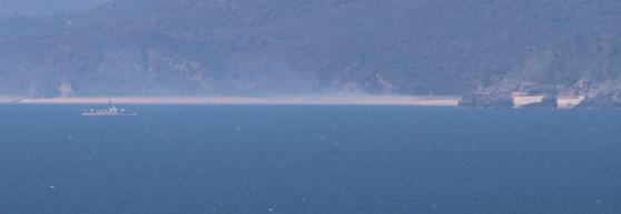 북한 등산곶 해안 인근 북한 군함 [연합뉴스]