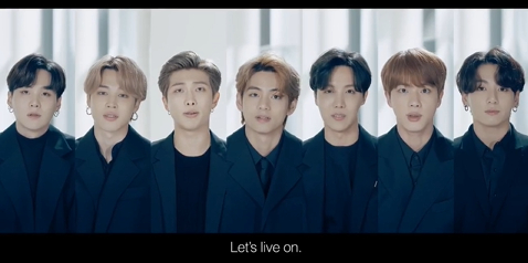 "BTS 유엔연설 '우리 함께 살아냅시다, Let's live on"""