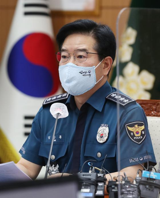 경찰청장, 개천절집회 3중차단…운전자는 체포·면허정지