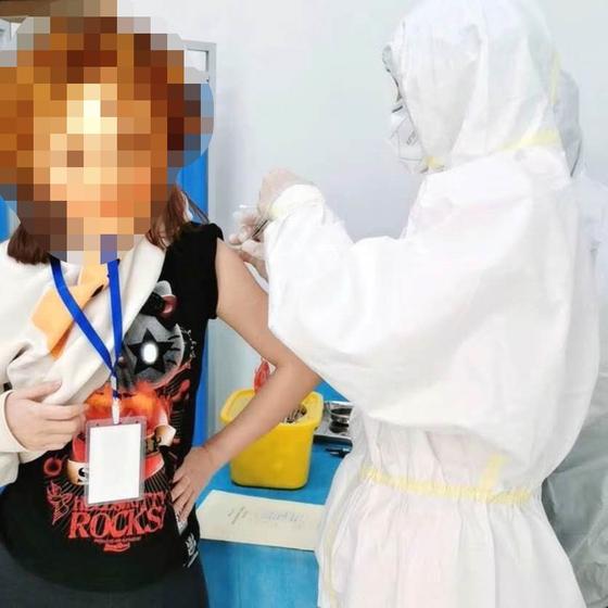 의대 재학중인 루씨는 4월 15일 칸시노사 2차 백신 임상 시험에 지원했다. [본인 제공]