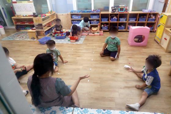 지난 2일 오전 대전 서구에 위치한 어린이집에서 긴급돌봄교실이 운영되고 있다. 뉴스1