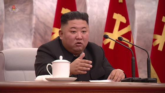 북한 김정은 국무위원장. 사진 조선중앙TV 화면