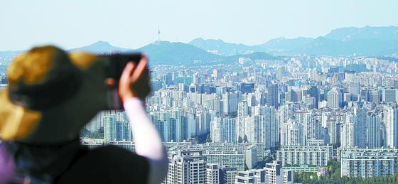 서울 강남권 아파트 일대. [연합뉴스]