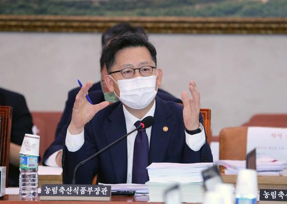 김현수 농림축산식품부 장관. 중앙포토