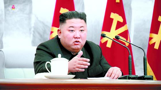 북한 김정은 국무위원장. [조선중앙TV 화면]