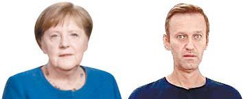 """""""메르켈, 독극물 테러 당한 나발니 비밀 문병"""""""