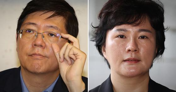 김홍걸 무소속 의원(왼쪽)과 조수진 국민의힘 의원. 연합뉴스·뉴스1