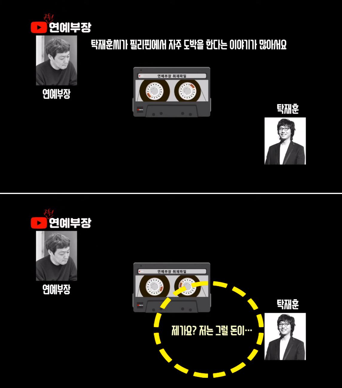 """탁재훈은 불법 도박 의혹에 대해 '제가 돈이 없다""""고 밝혔다. 유튜브 캡처"""