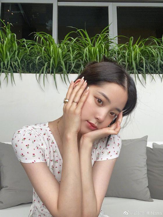 [오우양나나 웨이보 캡처]