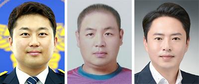 김태섭, 진창훈, 남현봉(왼쪽부터)