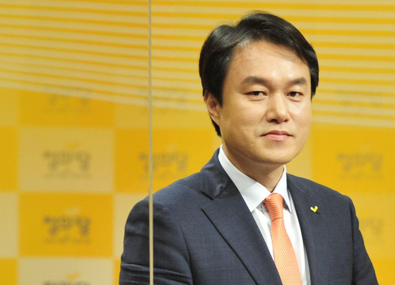 정의당 당대표에 도전하는 김종철 후보. 국회사진기자단