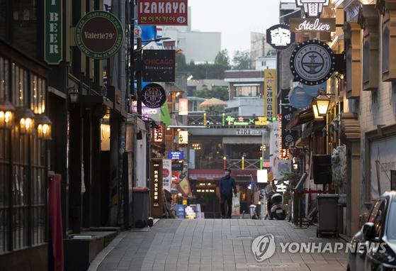 지난 5월 서울 이태원 거리. 연합뉴스