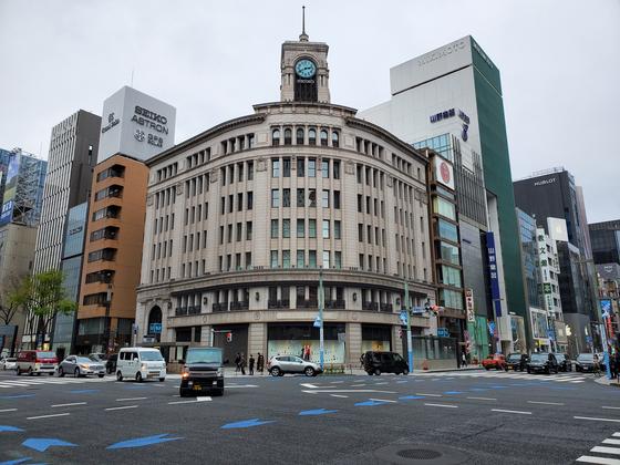 코로나19 여파로 도쿄 긴자거리가 한산한 모습이다.[연합뉴스]