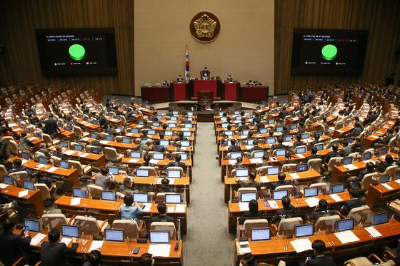 지난달 24일 국회 본회의 모습 [연합뉴스]