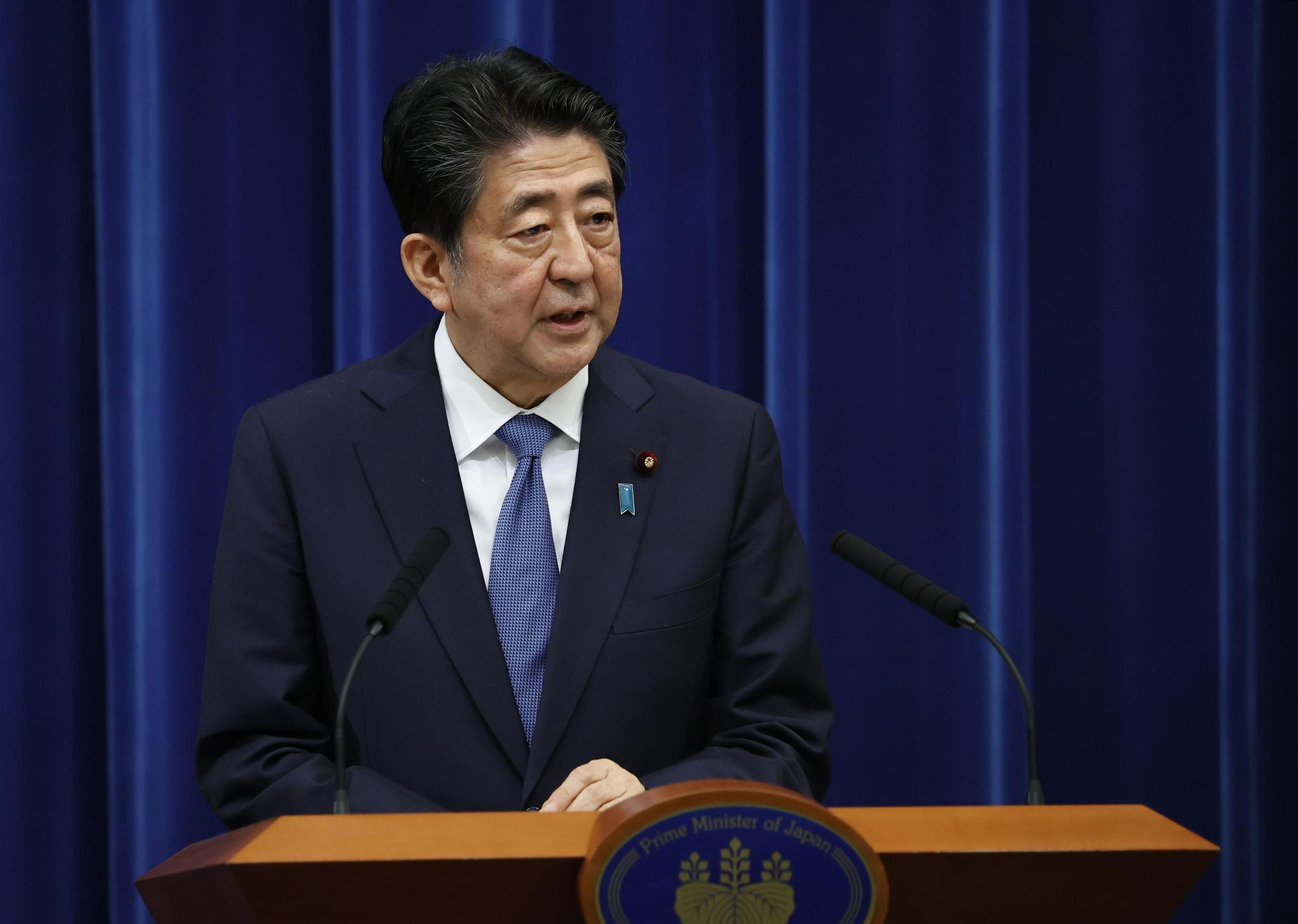 아베 신조(安倍晋三) 일본 총리. 도쿄 교도=연합뉴스