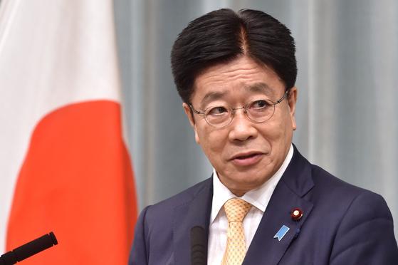 가토 가쓰노부 일본 관방장관. AFP=연합뉴스