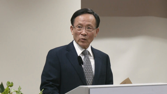 이수혁 주미대사가 지난해 10월 25일 미국 워싱턴 주미대사관에서 취임식에서 발언하고 있다. 정효식 특파원