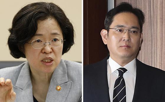 조성욱(左), 이재용(右). [뉴시스]