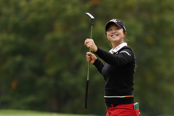 KPMG 여자 PGA 챔피언십 우승을 확정한 뒤 환하게 웃는 김세영. [AP=연합뉴스]
