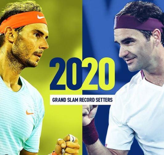 라파엘 나달이 12일 프랑스오픈에서 우승하면서 로저 페더러와 함께 20번째 메이저 대회 우승 기록을 세웠다. [사진 ATP 소셜미디어]