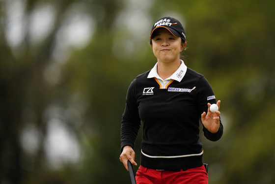 LPGA 투어 메이저 대회 KPMG 여자 PGA 챔피언십에서 우승한 김세영. 최종 라운드 14번 홀에서 버디를 성공한 뒤, 미소짓고 있다. [AP=연합뉴스]