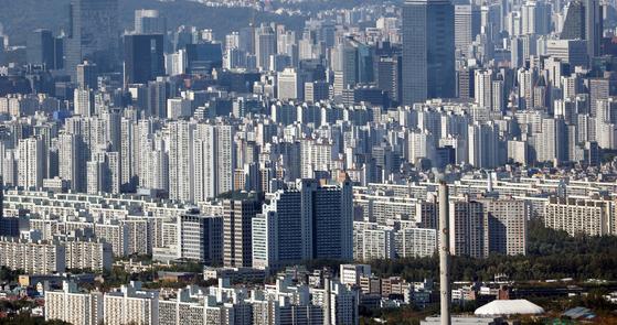 지난 8일 서울 강남구 일대의 아파트 모습. 연합뉴스