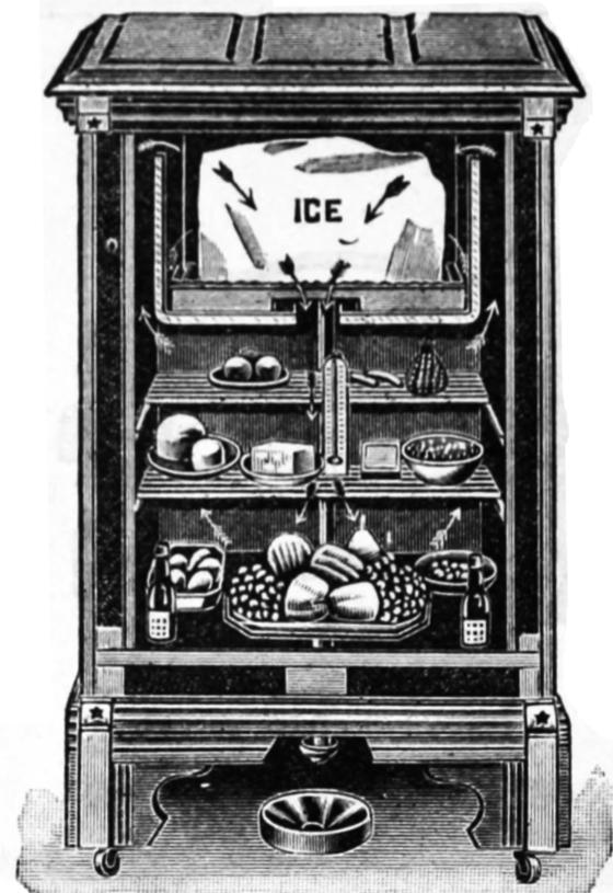 초기 아이스 박스. [사진 Wikimedia Commons]