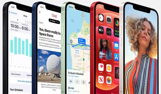 애플의 새 아이폰12. [애플 홈페이지 캡처]